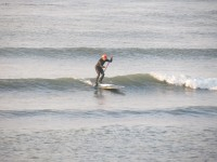 Dave Catches a Morning Wave